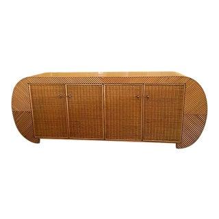 Gabriella Crespi-Style Bamboo Credenza