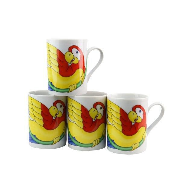 Image of Fitz & Floyd Parrot in Ring Coffee Mug - Set of 4