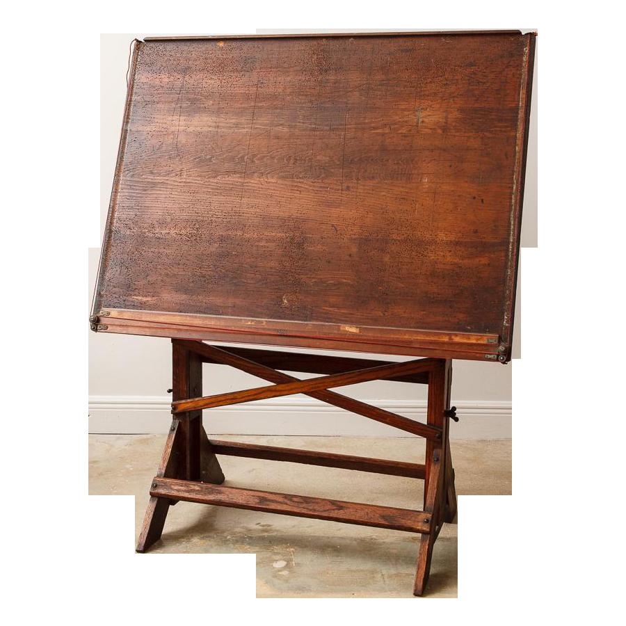 Superb Antique Architectu0027s Drafting Table