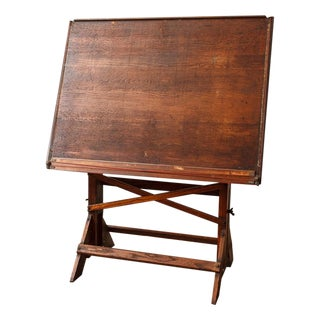Antique Architect's Drafting Table