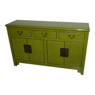 Chinese Lime Green Sideboard