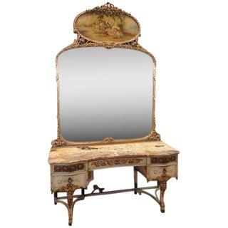 Marble Top Adam's Style Dressing Table Vanity 1920