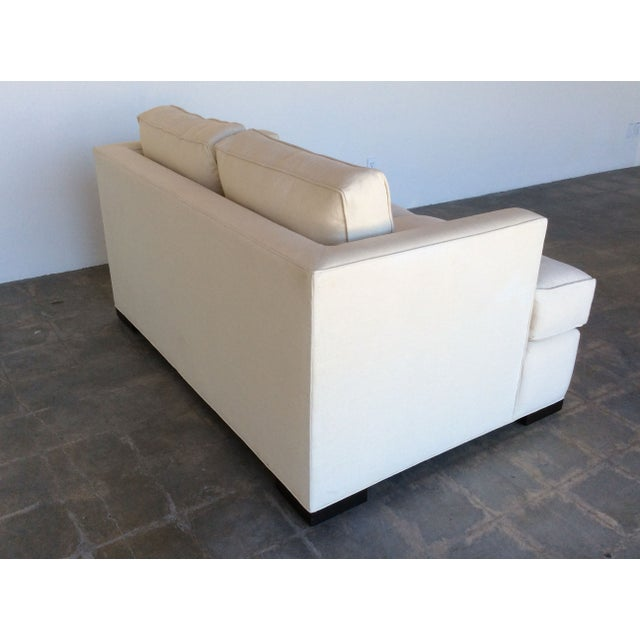 Contemporary White Love Seat - Image 4 of 7