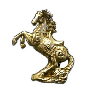 Chinese Pewter Horse Figure