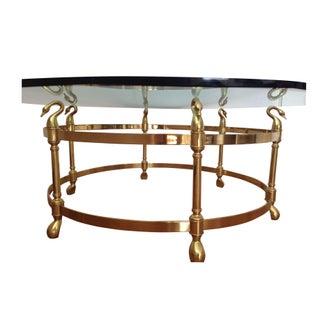 La Barge Brass Swan's Head Coffee Table