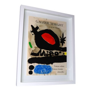Joan Miró Lithograph Poster By Galerie Maeght