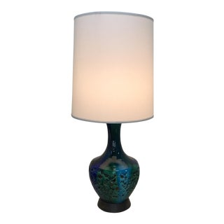 Blue & Green Ceramic Table Lamp
