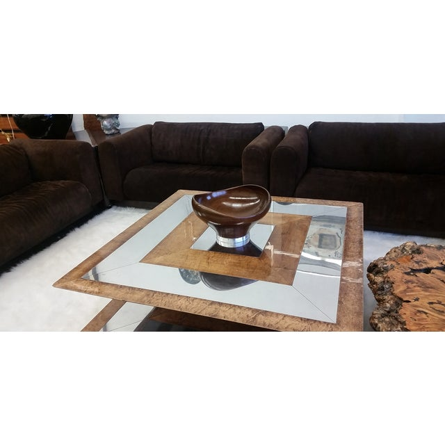 Image of Biomorphic Georg Jensen Sterling Wooden Table Bowl