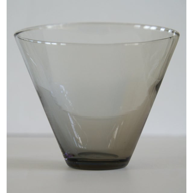 Modern Smoke Gray Cocktail Glasses - Set of 10 - Image 7 of 11