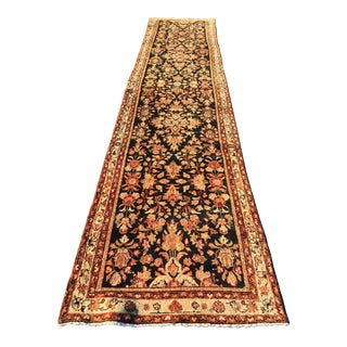 "Vintage Persian Malayer Runner - 3'3"" X 16'10"""