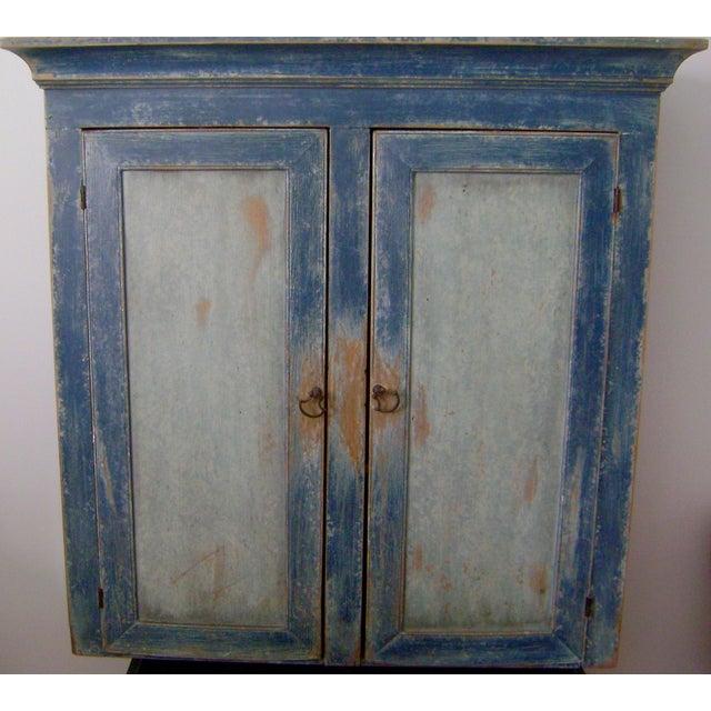 Antique Handmade Pine Hanging Cabinet - Image 2 of 9