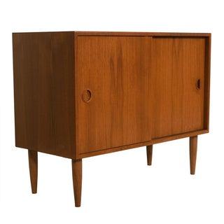 Petite Danish Modern Teak Bar Cabinet