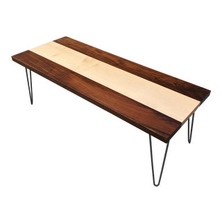 Maple & Walnut Coffee Table