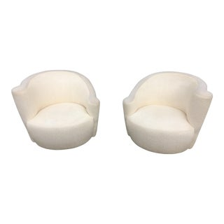 Vladimir Kagan Nautilus Swivel Chairs - A Pair