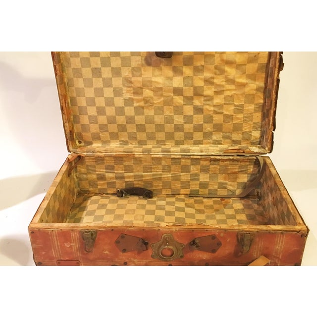 Vintage Leather Suitcase - Image 4 of 4