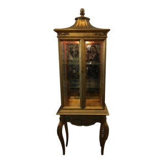 Carved Louis XV Vitrine