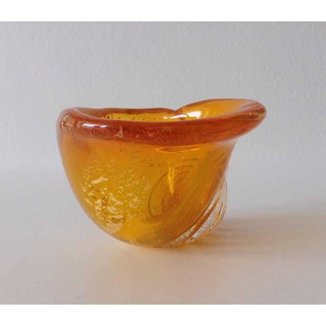 Alfredo Barbini Italian Murano Cognac Shell - Image 5 of 11
