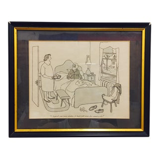 Vintage Framed George Price New Yorker Cartoon