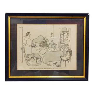 Vintage Framed George Price New Yorker Cartoon