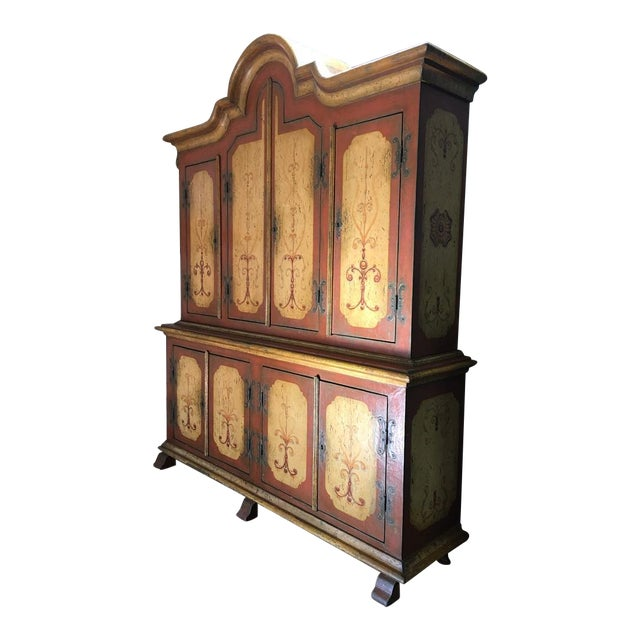 Hand-Painted German Armoire - Image 1 of 8