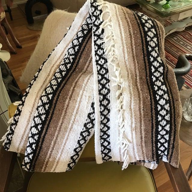 Mexican Boho Serape Blanket - Image 5 of 7