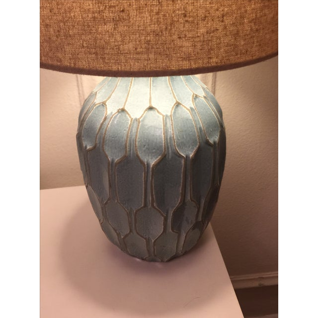 West Elm Handmade Ceramic Lamps - A Pair - Image 5 of 9