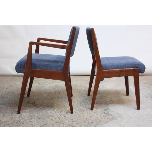 Set of Six Walnut Dining Chairs by Jens Risom - Image 6 of 11