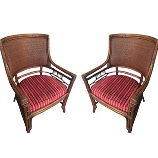 Chippendale Style Arm Chairs - A Pair
