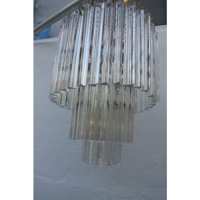 Venini Three-Tiered Glass Prism Chandelier. - Image 8 of 11