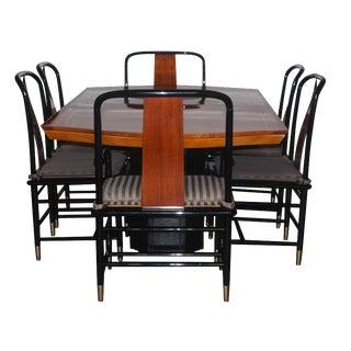 Henredon Cane & Lacquer Dining Room Set