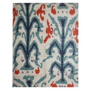 """Aara Rugs Inc. Hand Knotted Ikat Rug - 10'3"""" X 12'4"""""""