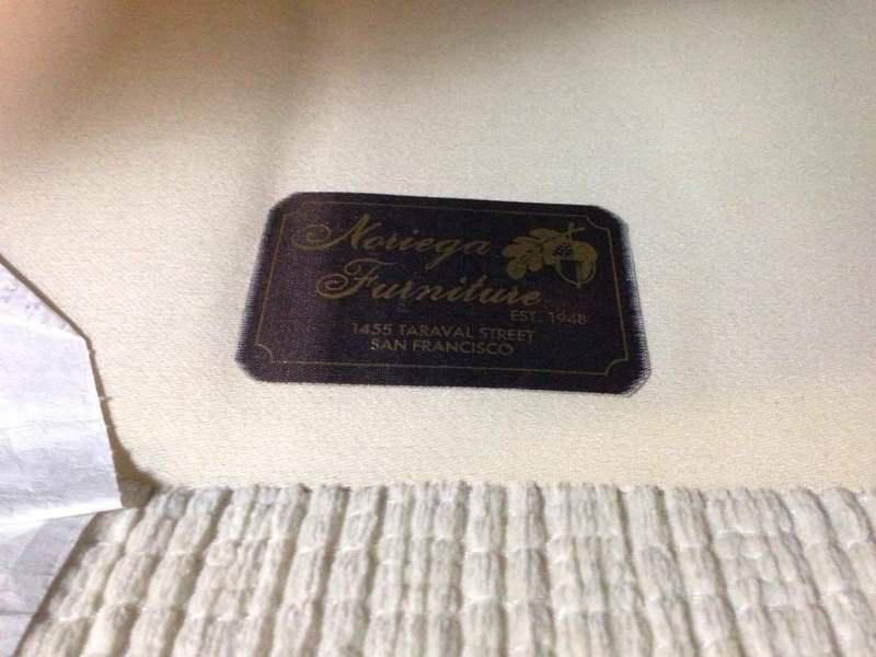 Noriega Furniture Vintage Upholstered Three Cushion Sofa   Image 5 Of 5