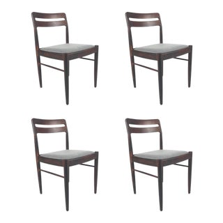 Vintage Danish Rosewood Dining Chairs - Set of 4