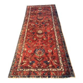 "70 year Old Vintage Fine Persian Lilihan Runner - 3'4""x9'4"""