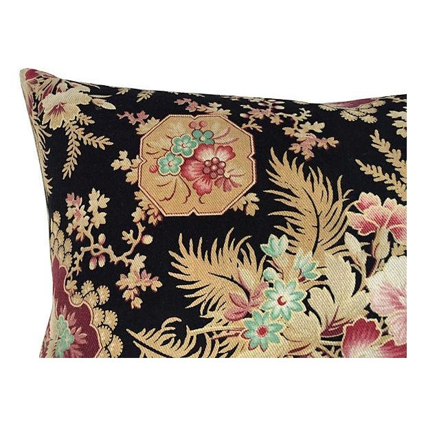 French Victorian Floral Pillows - A Pair - Image 4 of 6