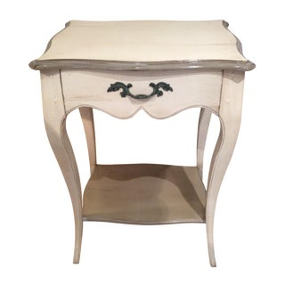 Pompadour Style White & Gray Nightstand