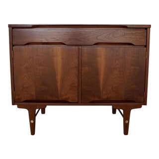 Mid-Century Modern Walnut Cabinet by Stanley