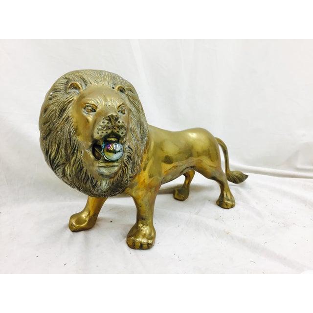 Vintage Brass Lion Sculpture - Image 10 of 10