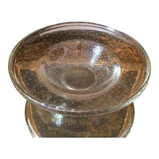 Mid-Century Italian Bubble Glass Bowl