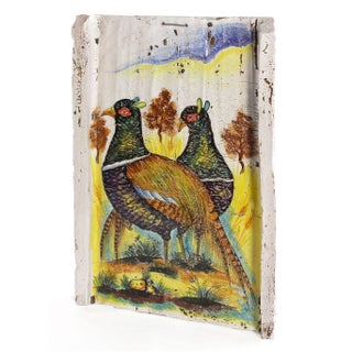 Italian Hand Painted Pheasant Plaque