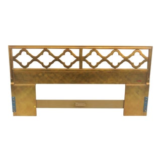 Hollywood Regency Gold King Size Headboard