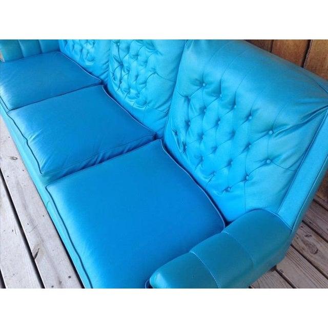 Mid-Century Modern Turquoise Sofa - Image 11 of 11