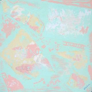 Suga Lane - Stairs Original Contemporary Acrylic Collage Painting