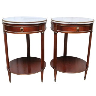Pair of French Louis XVI Style Side Tables Stamped Jansen