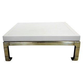 Mastercraft Brass and Lacquered Coffee Table