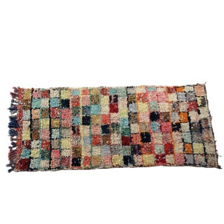 "Vintage Boucherouite Rug Rag - 3'4"" x 7'"