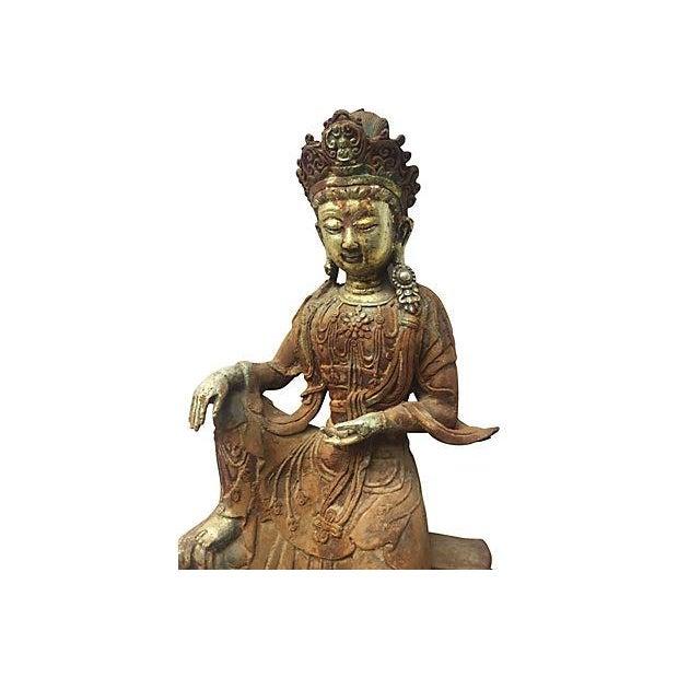 Antique Goddess, Quan Yin - Image 3 of 7