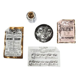 COLLECTION OF FIVE OBJECTS BY PIERO FORNASETTI, CIRCA 1960S