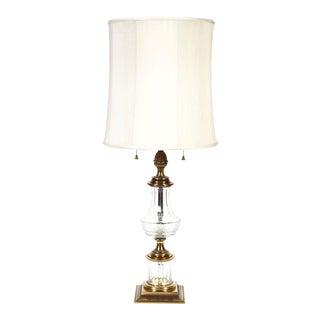 Stiffel Cut Crystal & Brass Table Lamp