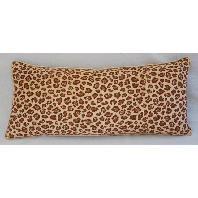 Leopard Velvet Lumbar Body Pillow - Image 3 of 8